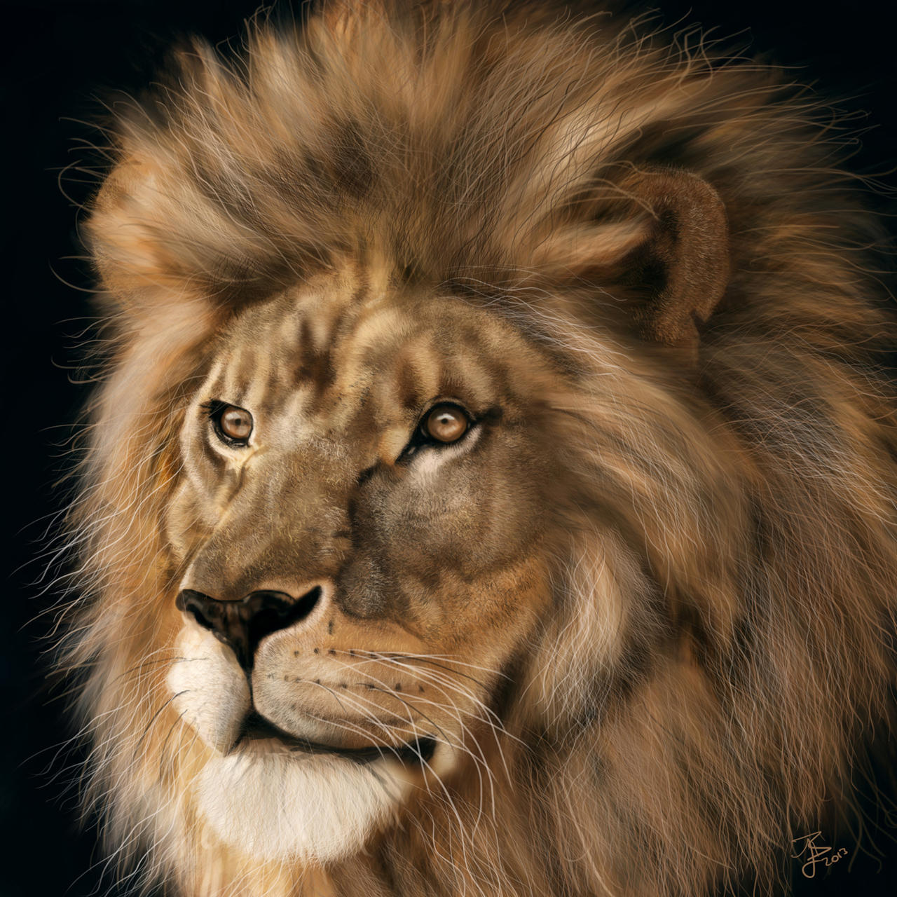 Lion Study by lberry1976
