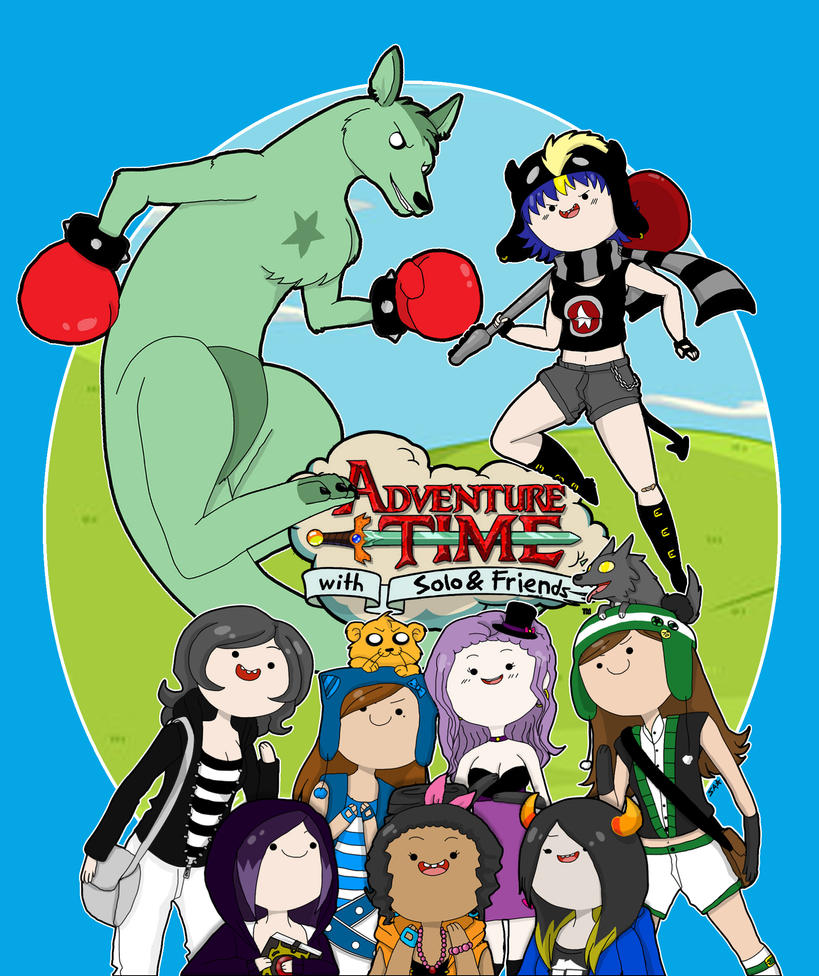 T-shirt Design: Adventure Time w/ Solo and Friends by SoloAzume