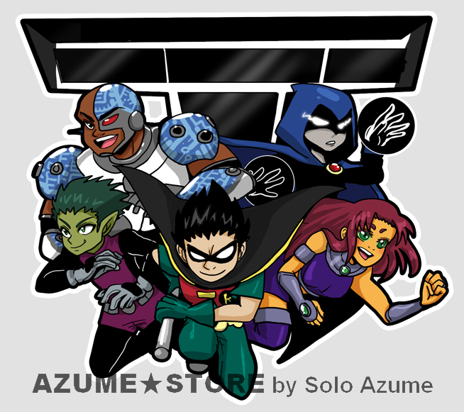 Teen Titans Acrylic charm by SoloAzume