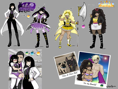 [MSnD] Violette + Sonia character sheets