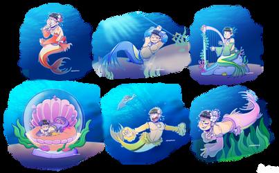 [Ososan] Deep Sea NEETS by SoloAzume