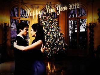 Elena and Damon by ToriaChernenko