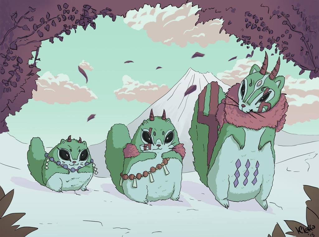 fairies_in_the_snow___fakemon_by_shiroiu