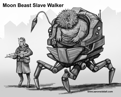 Moon Beast Slave Walker by MythAdvocate