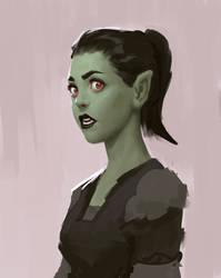 Orc portrait sketch by Varguy