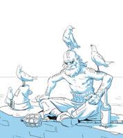 Wizard Sketch by Varguy