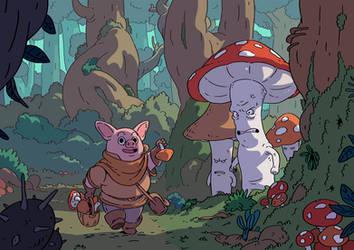 Mushroom Forest2 by Varguy
