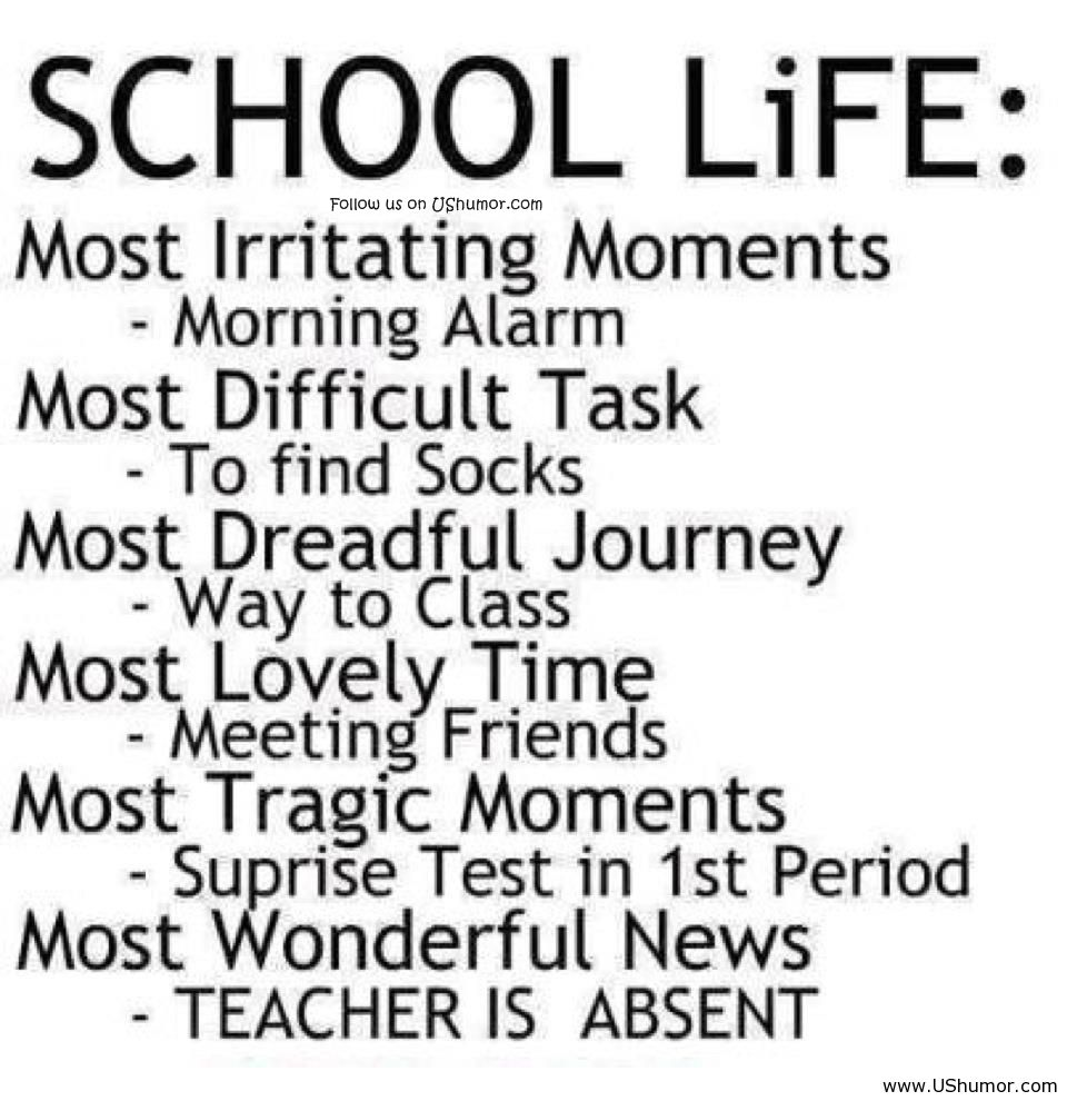 Funny joke about school life