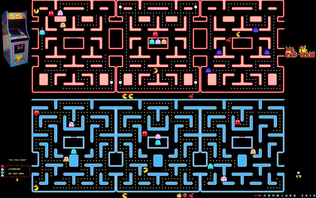 Ms Pacman Wallpaper By Crvnjava67 On Deviantart