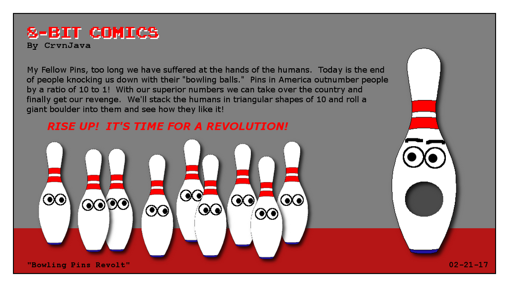 Bowling Pins Revolt by crvnjava67