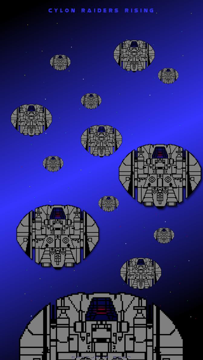 Cylon Raiders Rising by crvnjava67