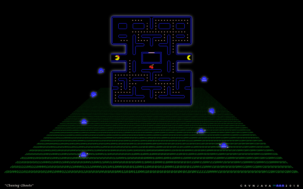 PacMan Chasing Ghosts by crvnjava67