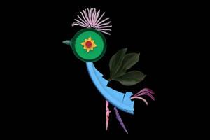 Leafy winged Bird by ZephyraMilie