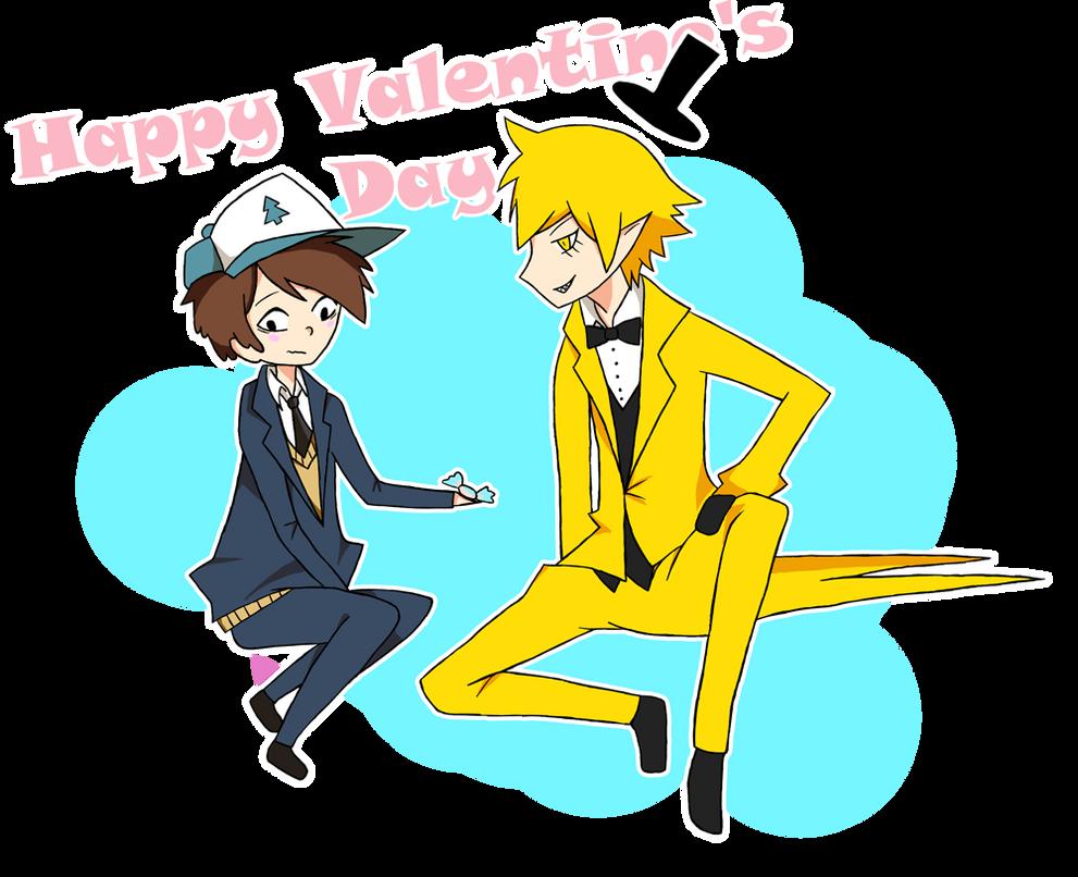 Happy V-Day with billdip by Yazu-Jud