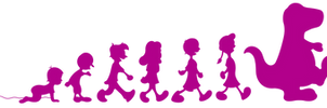 Barney and Marching Children Logo (1992-1993)