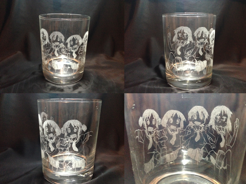 Nichijou Glass Engrave by FilAm4494