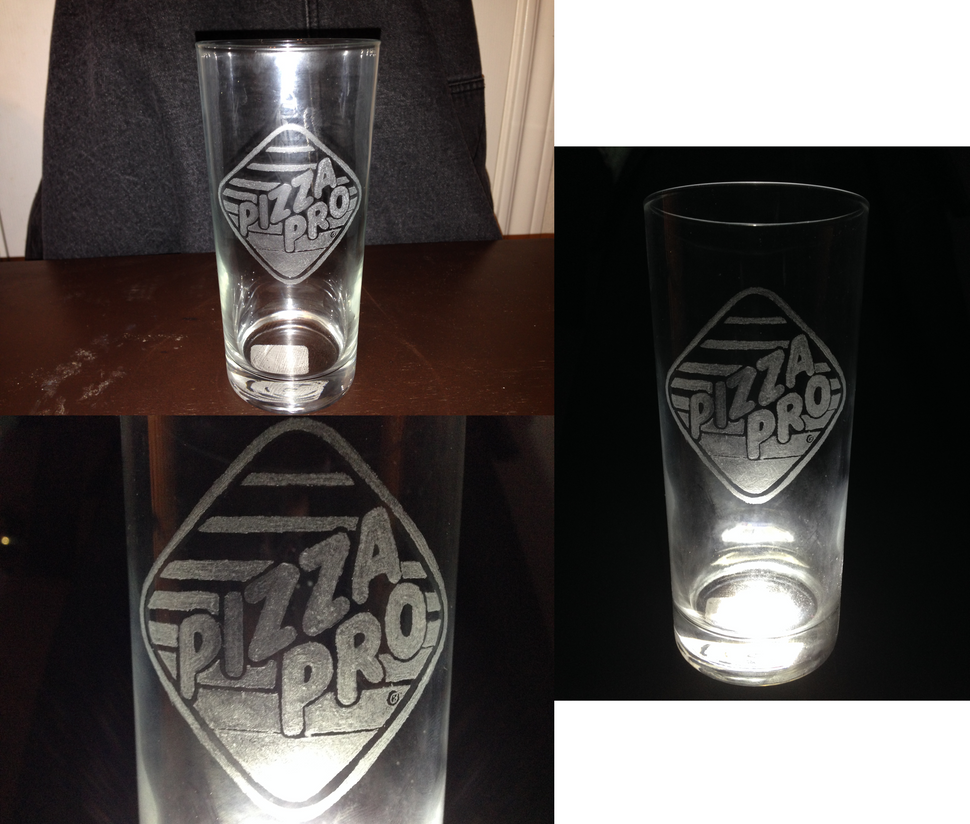 Pizza Pro logo Glass Engraving by FilAm4494