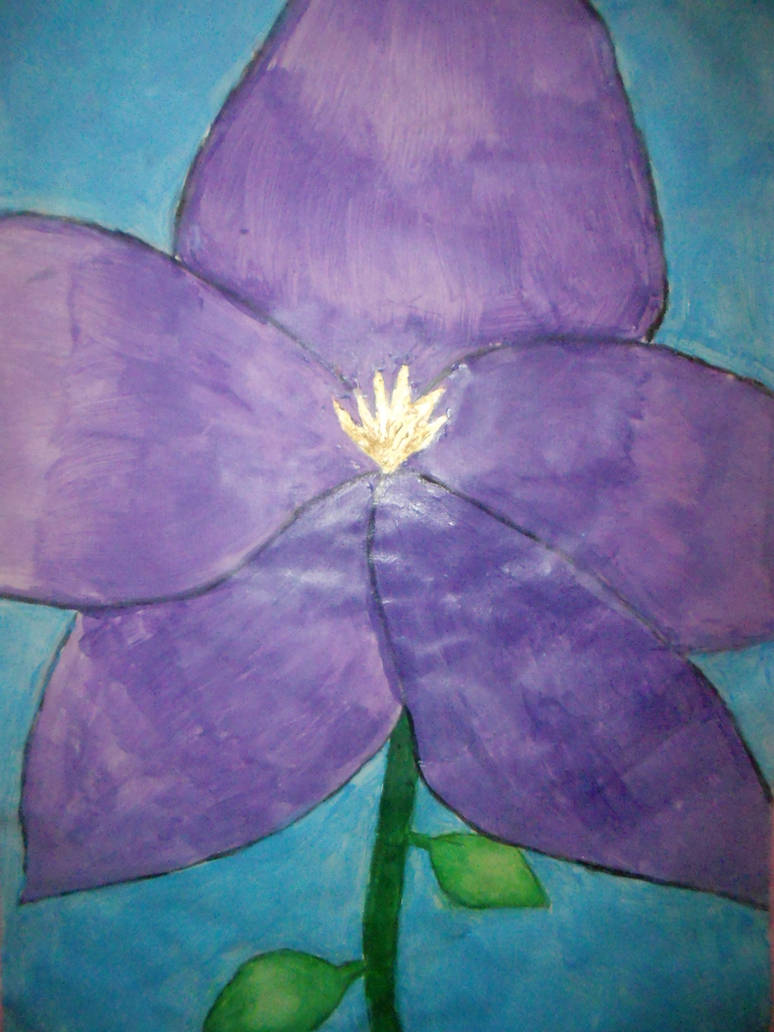 I painted a flower...