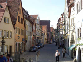 Middelage Alley Rothenburg by Arminius1871