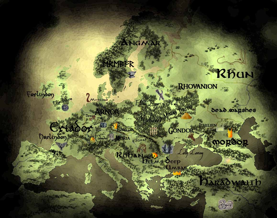 Map of MiddleEarth And The Undying Lands by CorvusCorax92 on – Best Middle Earth Map