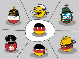 Countryball german stereotypes by Arminius1871