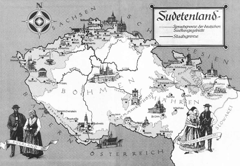 sudetenland map by arminius1871 on deviantart