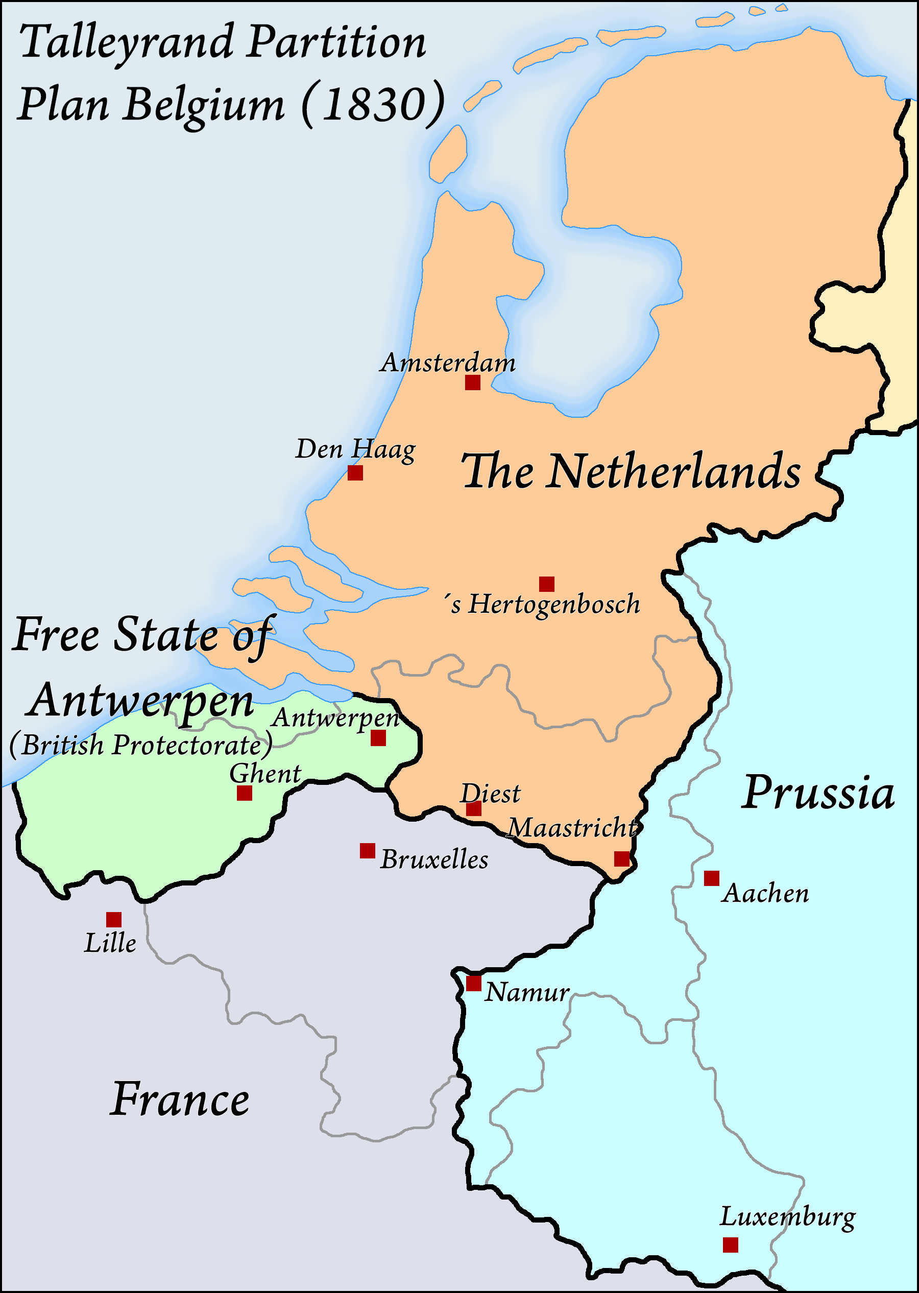 talleyrand plan for the partition of belgium 1830 by arminius1871