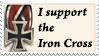 I support the Iron Cross Stamp