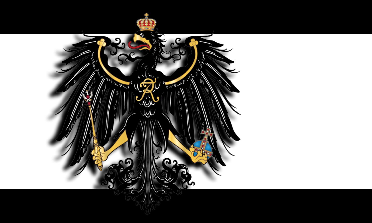 Prussian flag with 3D eagle by Arminius1871 on DeviantArt