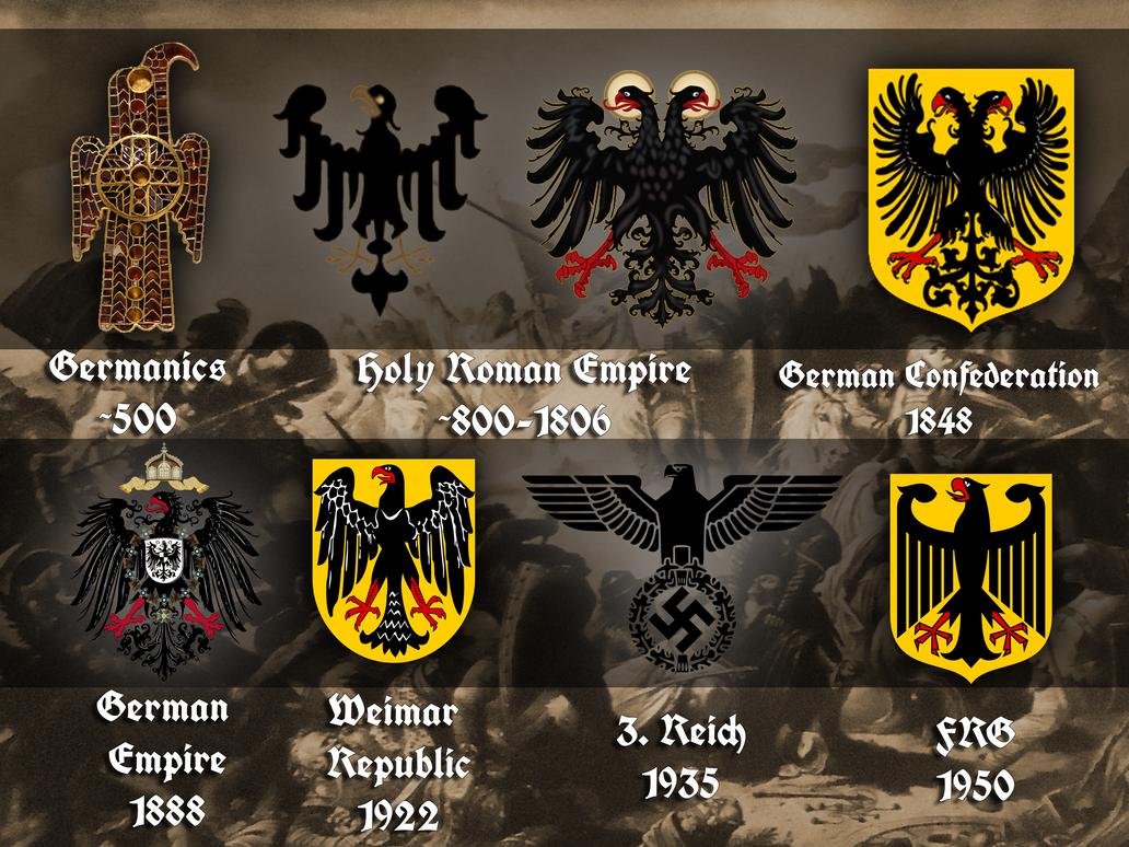 Evolution of the german eagle by Arminius1871 on DeviantArt
