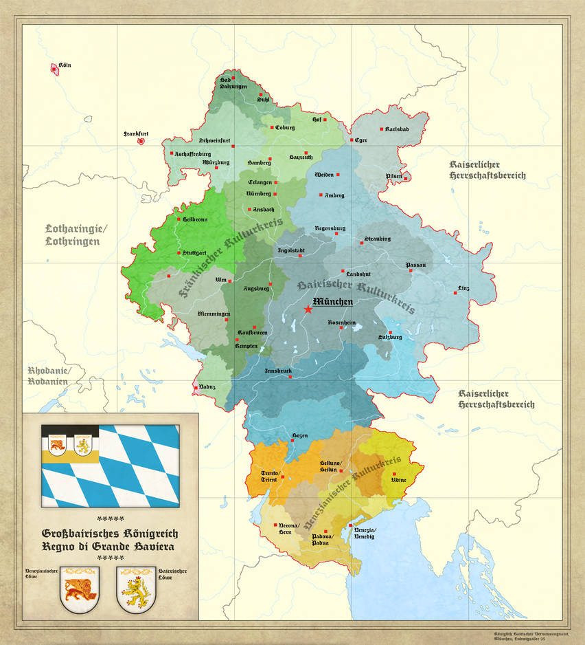 Greater Kingdom of Bavaria by Arminius1871 on DeviantArt on rhine in germany map, poland in germany map, world war i in germany map, baden-württemberg in germany map, frankfurt in germany map, saxony in germany map, bremen in germany map, munich in germany map, cologne in germany map, hamburg in germany map, black forest in germany map, alps in germany map,