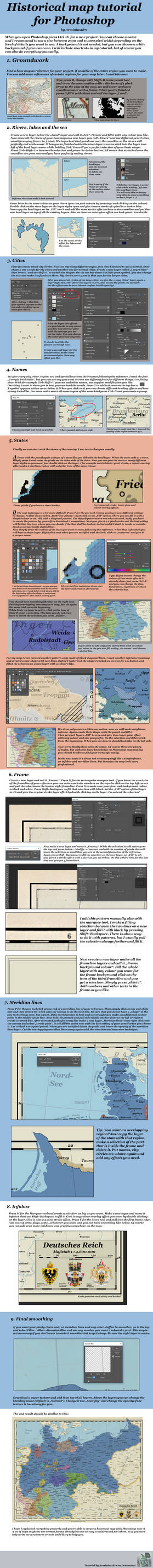 Historical Map Tutorial for Photoshop by Arminius1871 on