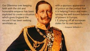 Kaiser wilhelm quote balance of powers