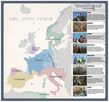 Post roman states and tribes in the 6th century