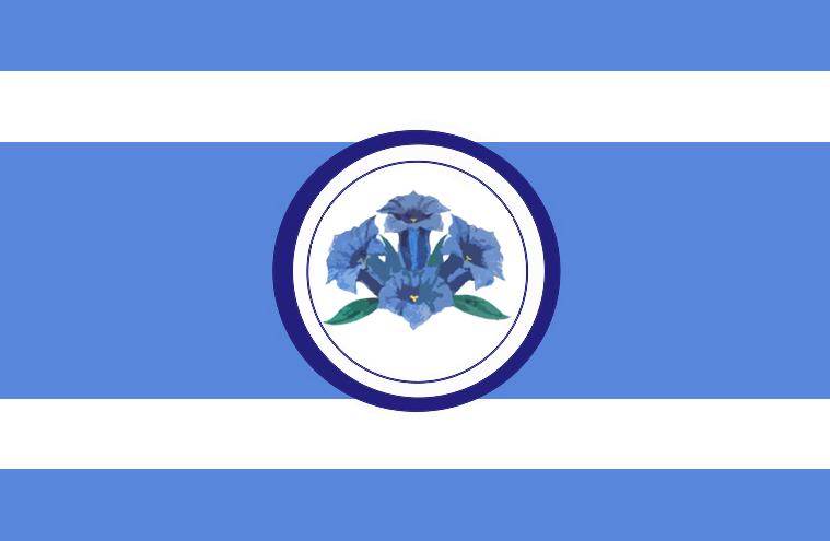Alpine Empire gentian flag by Arminius1871