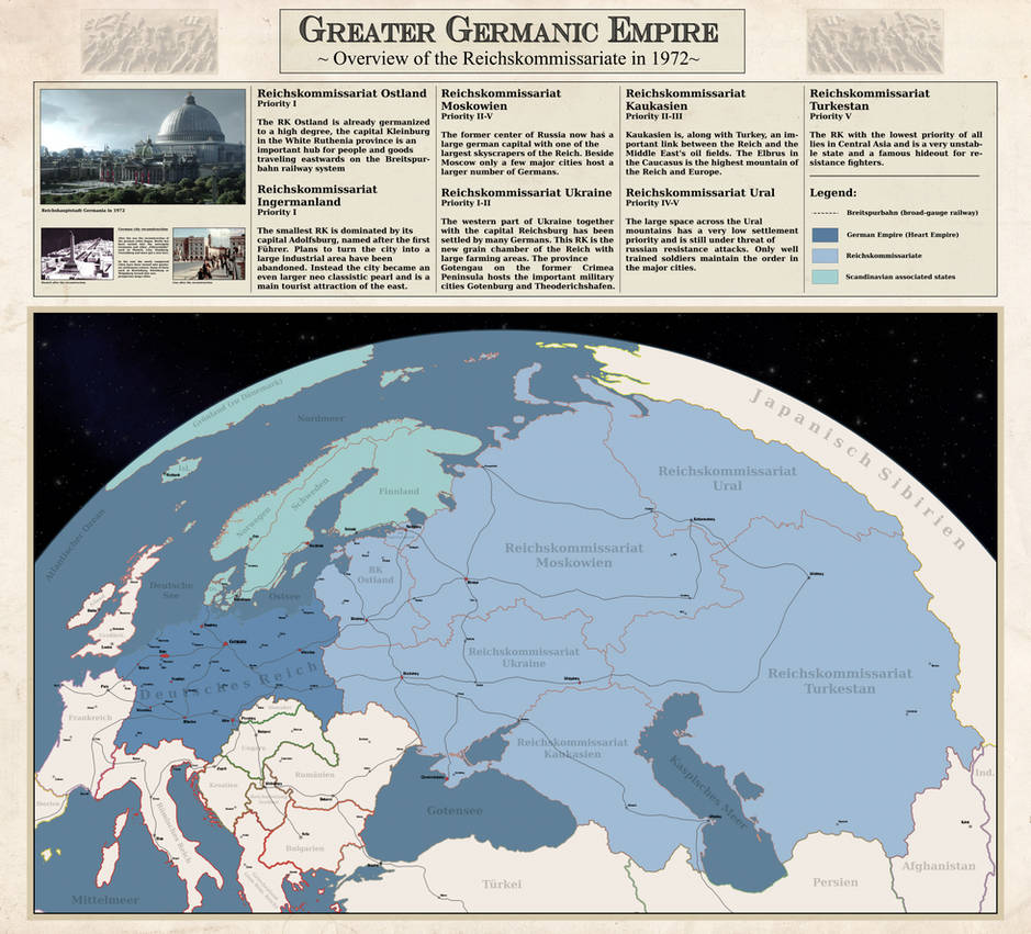 Greater Germanic Empire Kommissariate By Arminius1871 On