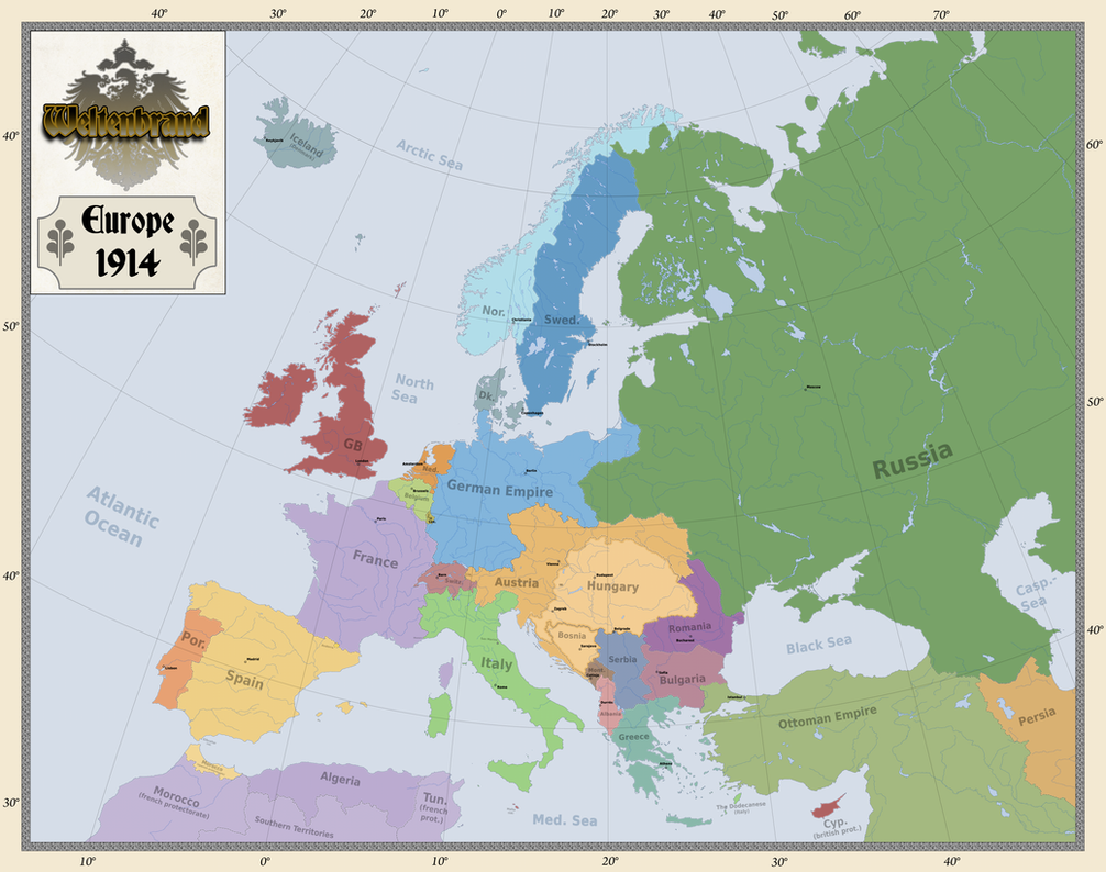 Europe 1914 by Arminius1871 on DeviantArt