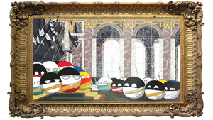 Proclamation of the German Empire as countryballs