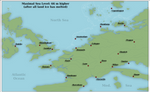 Higher sea level in Europe