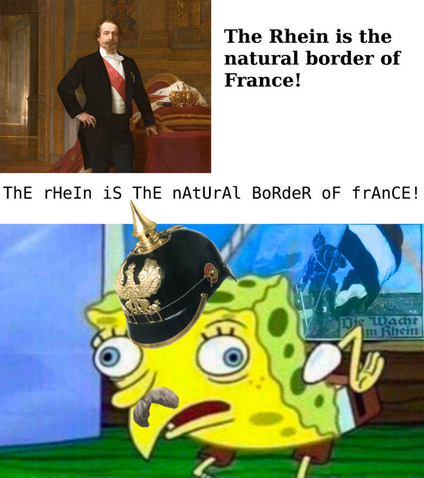 Spongebob rhein border meme by arminius1871