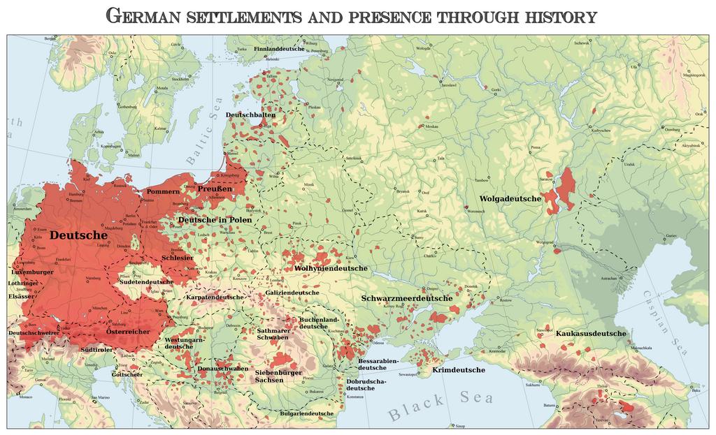 germans in eastern europe map by arminius1871