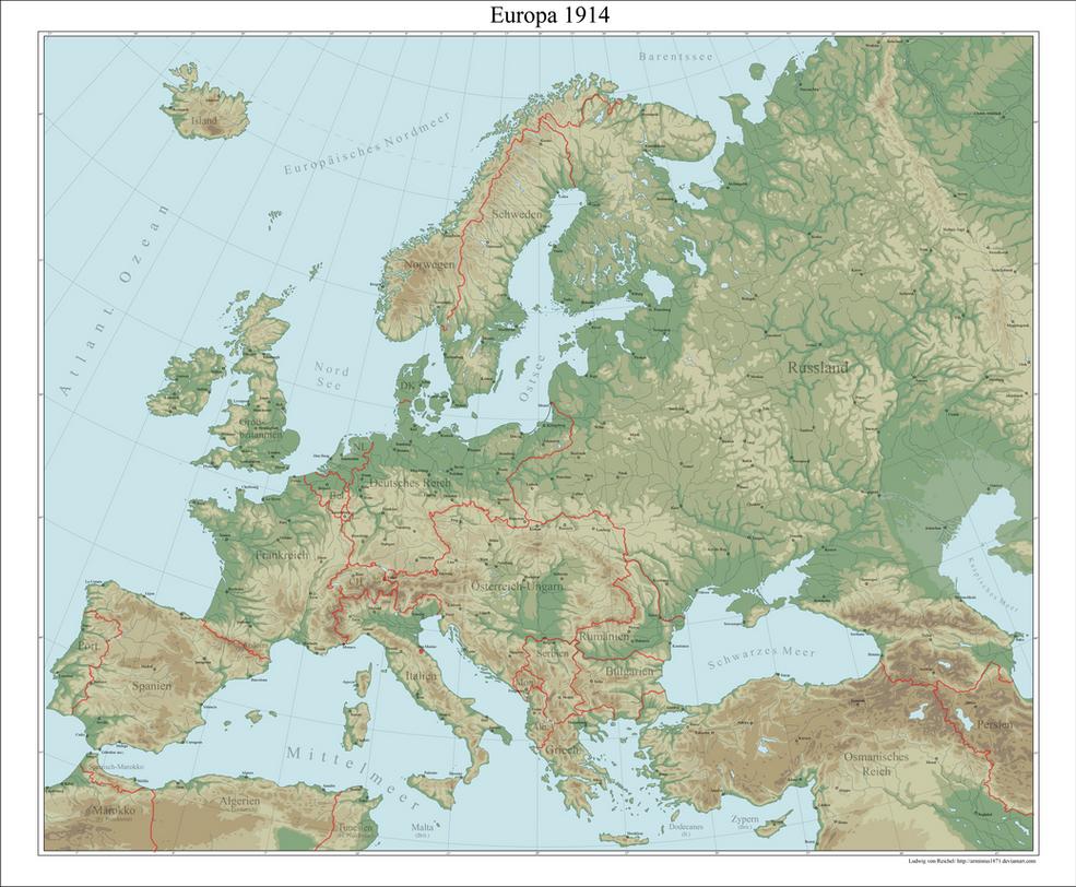 Europe By Arminius On DeviantArt - Europe map 1871 1914