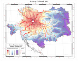 Austro-Hungarian Empire railway network 1912 by Arminius1871