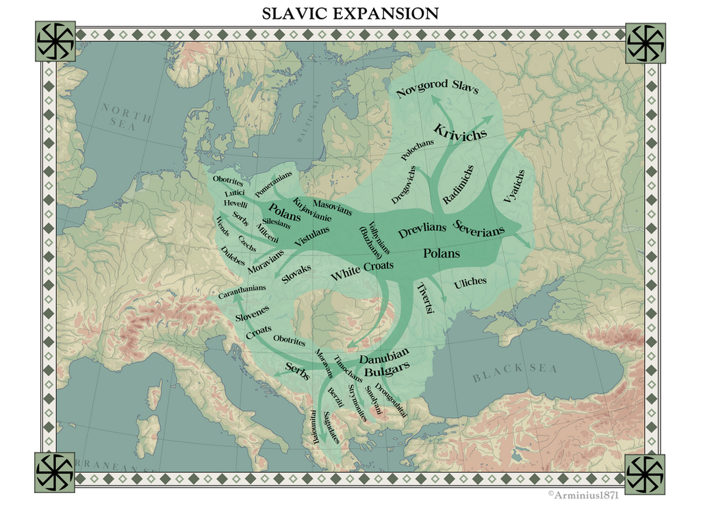 Slavic Expansion by Arminius1871