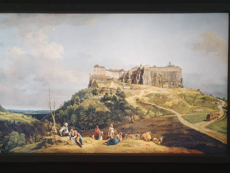 Painting of Festung Koenigstein