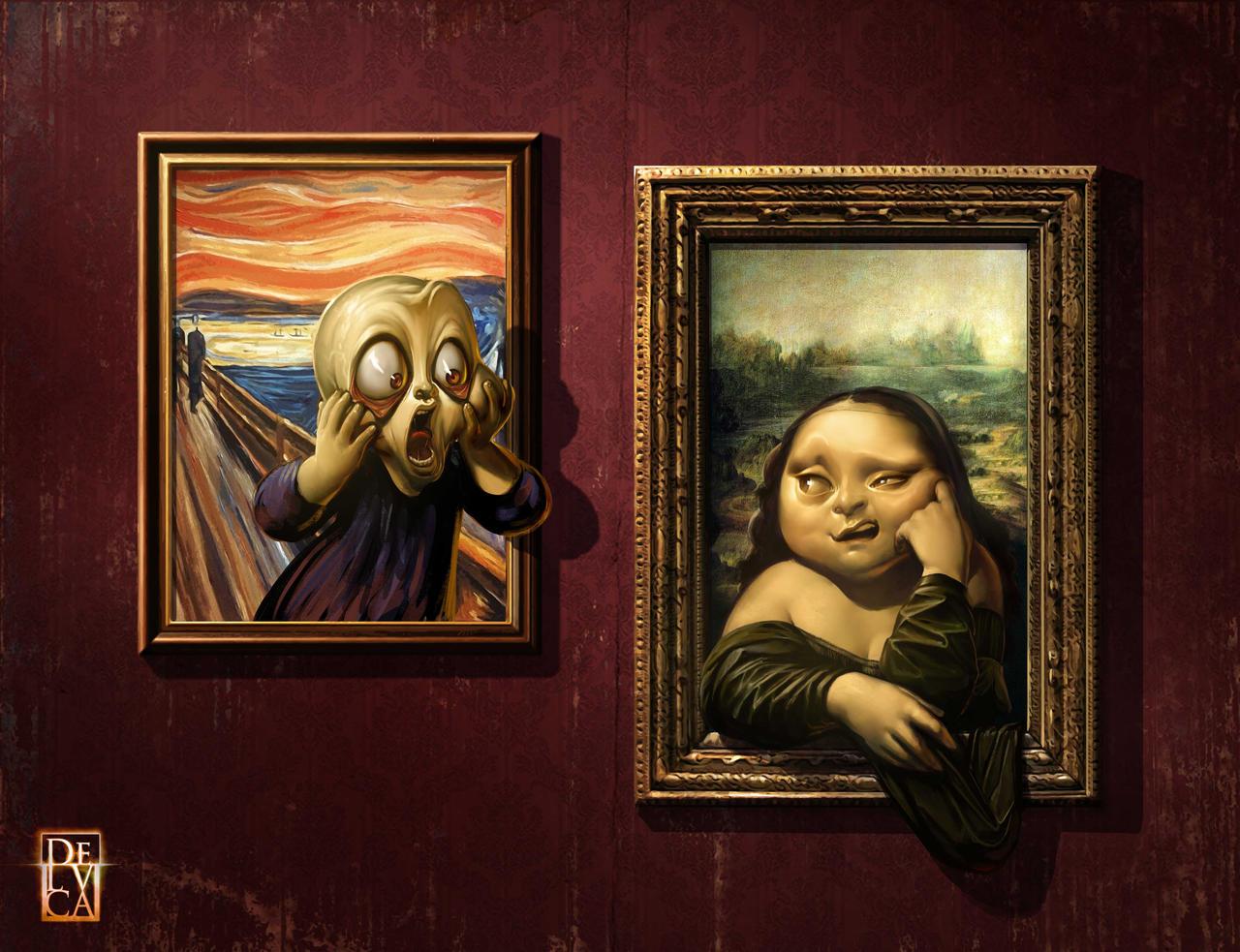 The Scream VS Mona Lisa!