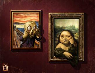 The Scream VS Mona Lisa! by antoniodeluca
