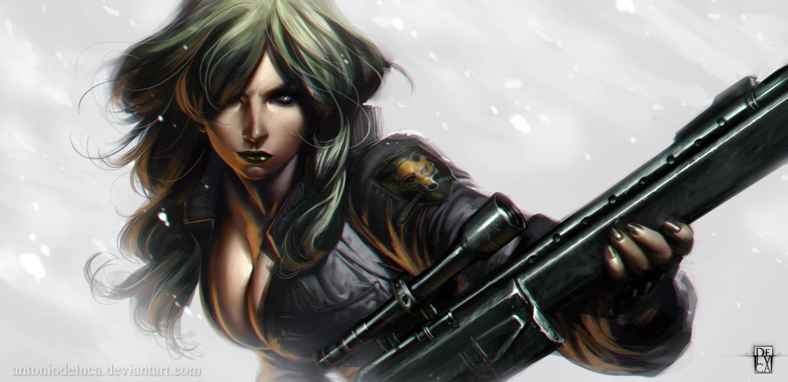 Metal Gear Solid Sniper Wolf Art