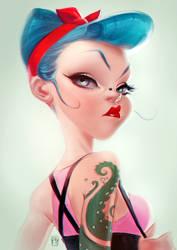 ROCKABILLY GIRL by antoniodeluca
