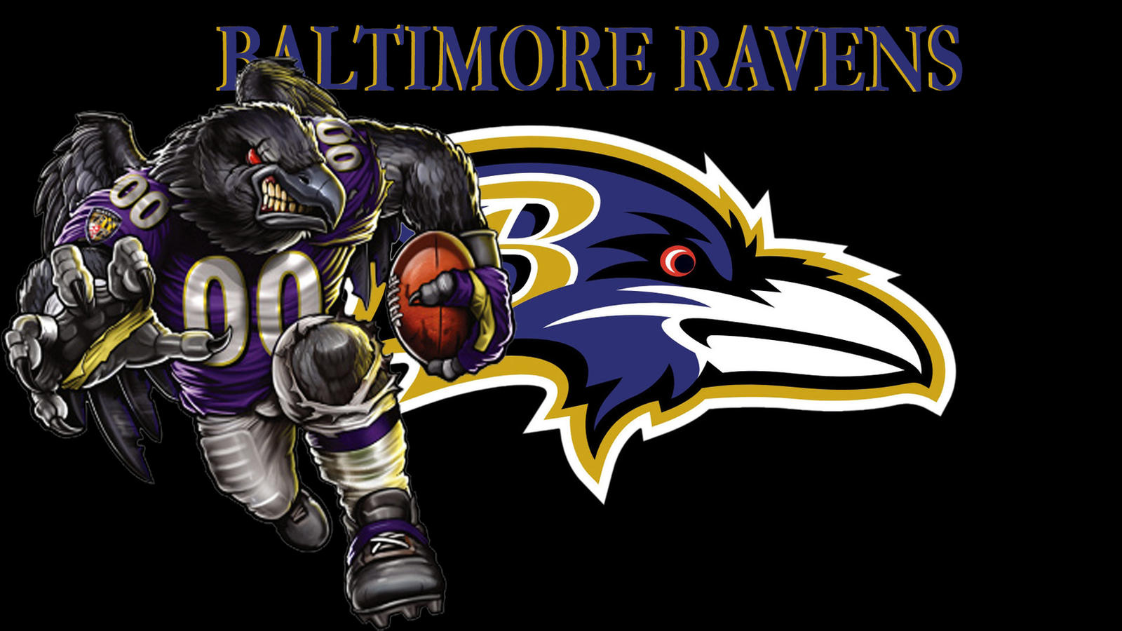 What is the baltimore ravens mascot name -  Img